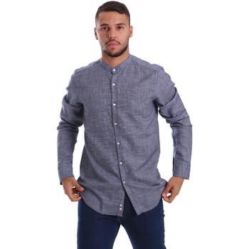 tekstylia Męskie Koszule z długim rękawem Gmf 971139/13 Niebieski
