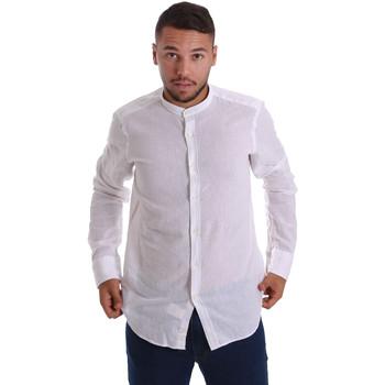 tekstylia Męskie Koszule z długim rękawem Gmf 971306/01 Biały