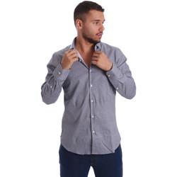 tekstylia Męskie Koszule z długim rękawem Gmf 971185/03 Czarny