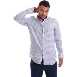 tekstylia Męskie Koszule z długim rękawem Gmf 971312/01 Niebieski
