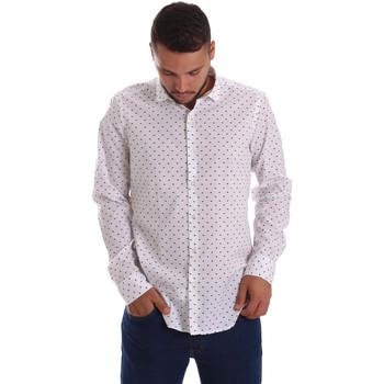 tekstylia Męskie Koszule z długim rękawem Gmf 971200/01 Biały