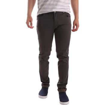 tekstylia Męskie Spodnie z pięcioma kieszeniami Sei3sei PZV17 71339 Brązowy