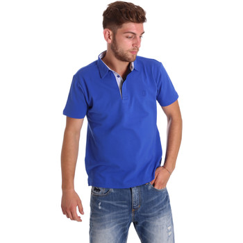 tekstylia Męskie Koszulki polo z krótkim rękawem Bradano 000116 Niebieski