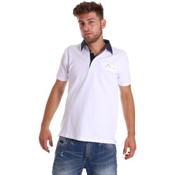 tekstylia Męskie Koszulki polo z krótkim rękawem Bradano 000115 Biały