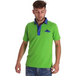 tekstylia Męskie Koszulki polo z krótkim rękawem Bradano 000114 Zielony