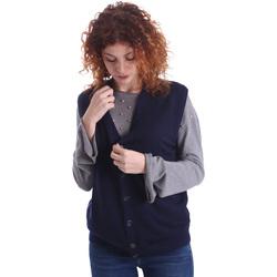 tekstylia Damskie Swetry rozpinane / Kardigany Wool&co WO0004 Niebieski