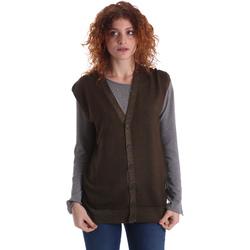 tekstylia Damskie Swetry rozpinane / Kardigany Wool&co WO0004 Zielony