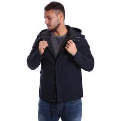 tekstylia Męskie Kurtki pikowane Antony Morato MMCO00424 FA600100 Niebieski