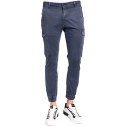 tekstylia Męskie Spodnie bojówki Gaudi 921BU25011 Niebieski