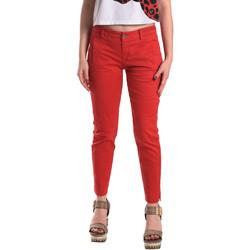 tekstylia Damskie Chinos Fornarina BE171L74G29176 Czerwony