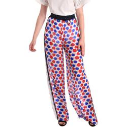 tekstylia Damskie Spodnie z lejącej tkaniny / Alladynki Fornarina BE171L91CA0676 Biały