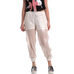 tekstylia Damskie Spodnie dresowe Fornarina BE171L95CA0509 Biały