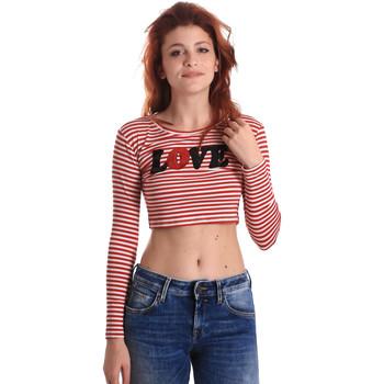 tekstylia Damskie T-shirty z długim rękawem Fornarina BE175L14JG0976 Czerwony