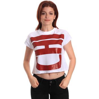 tekstylia Damskie T-shirty z krótkim rękawem Fornarina BE175L31JG0709 Biały