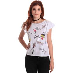 tekstylia Damskie T-shirty z krótkim rękawem Fornarina BE175L40JG0709 Biały