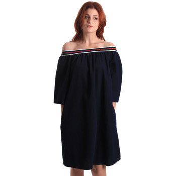 tekstylia Damskie Sukienki krótkie Fornarina BE178D60D883NT Niebieski