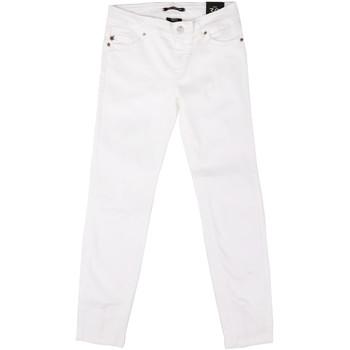 tekstylia Damskie Jeansy slim fit Fornarina BER1L01D851VJ Biały