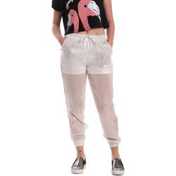tekstylia Damskie Spodnie dresowe Fornarina SE171L95CA0509 Biały
