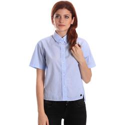 tekstylia Damskie Koszule Fornarina SE174567CA1218 Niebieski