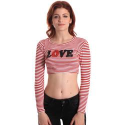 tekstylia Damskie T-shirty z długim rękawem Fornarina SE175L14JG0976 Czerwony