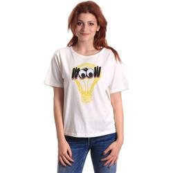 tekstylia Damskie T-shirty z krótkim rękawem Fornarina SE175L27JG1608 Biały