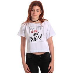 tekstylia Damskie T-shirty z krótkim rękawem Fornarina SE175L28JG0709 Biały