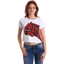 tekstylia Damskie T-shirty z krótkim rękawem Fornarina SE175L32JG0709 Czerwony