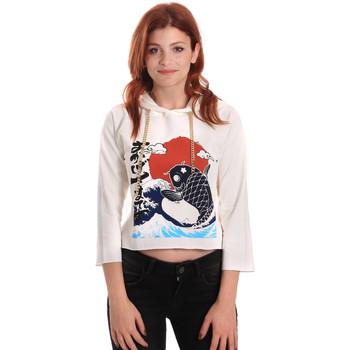 tekstylia Damskie Bluzy Fornarina SE176842F42709 Biały