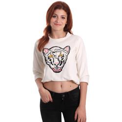 tekstylia Damskie Bluzy Fornarina SE176844F42709 Biały