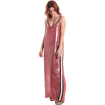 tekstylia Damskie Sukienki długie Fornarina SE178D61CA05E9 Różowy
