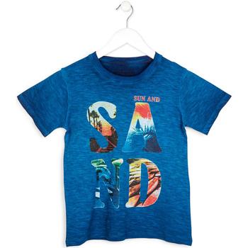 tekstylia Chłopiec T-shirty z krótkim rękawem Losan 713 1023AA Niebieski