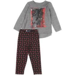 tekstylia Dziewczynka Komplet Losan 626 8016AD Szary
