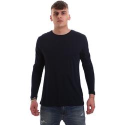 tekstylia Męskie T-shirty z długim rękawem Antony Morato MMKL00264 FA100066 Niebieski