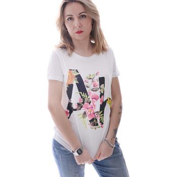 tekstylia Damskie T-shirty z krótkim rękawem Fracomina FR20SP368 Biały
