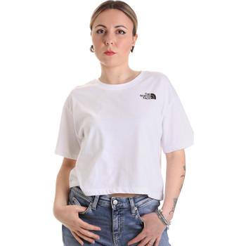 tekstylia Damskie T-shirty z krótkim rękawem The North Face NF0A4SYCFN41 Biały
