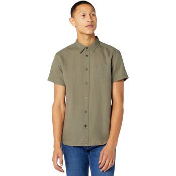 tekstylia Męskie Koszule z krótkim rękawem Wrangler W5J1LOX45 Zielony