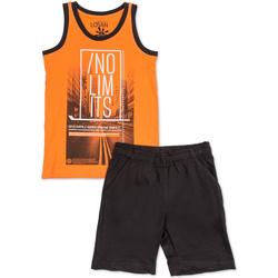 tekstylia Chłopiec Komplet Losan 713 8044AA Pomarańczowy