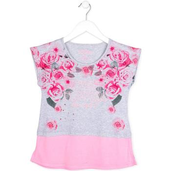 tekstylia Dziewczynka T-shirty z krótkim rękawem Losan 714 1009AB Szary