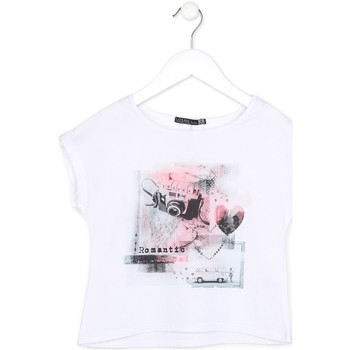 tekstylia Dziewczynka T-shirty z krótkim rękawem Losan 714 1014AB Biały