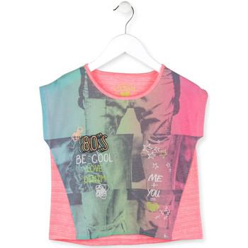tekstylia Dziewczynka T-shirty z krótkim rękawem Losan 714 1017AB Różowy