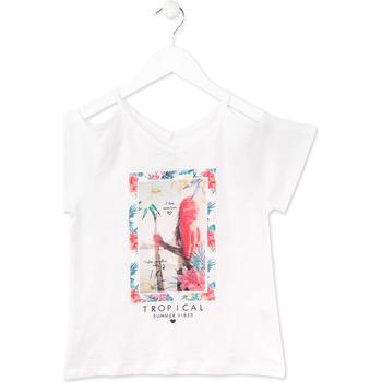 tekstylia Dziewczynka T-shirty z krótkim rękawem Losan 714 1026AB Biały