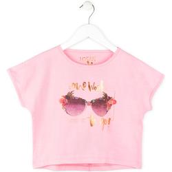 tekstylia Dziewczynka T-shirty z krótkim rękawem Losan 714 1200AB Różowy