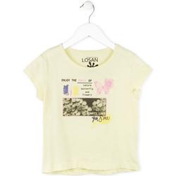 tekstylia Dziewczynka T-shirty z krótkim rękawem Losan 714 1208AB Żółty