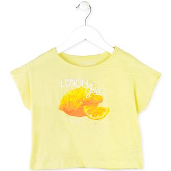 tekstylia Dziewczynka T-shirty z krótkim rękawem Losan 714 1211AB Żółty
