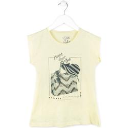 tekstylia Dziewczynka T-shirty z krótkim rękawem Losan 714 1212AB Żółty
