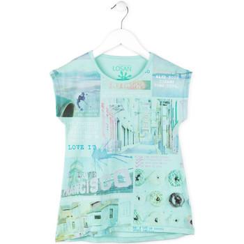 tekstylia Dziewczynka T-shirty z krótkim rękawem Losan 714 1215AB Niebieski
