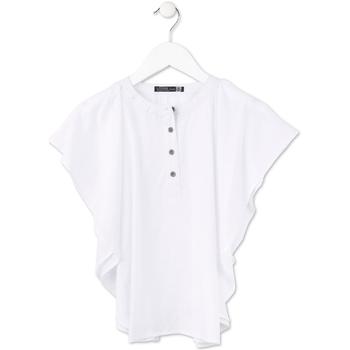 tekstylia Dziewczynka Topy / Bluzki Losan 714 3002AB Biały