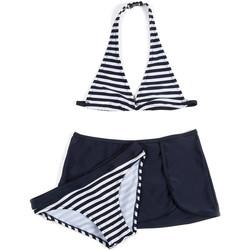 tekstylia Dziewczynka Kostium kąpielowy dwuczęściowy Losan 714 4009AB Niebieski