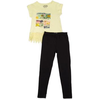 tekstylia Dziewczynka Komplet Losan 714 8018AB Żółty