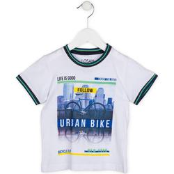 tekstylia Chłopiec T-shirty z krótkim rękawem Losan 715 1013AC Biały